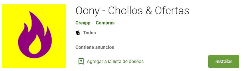 Oony Chollos y Ofertas