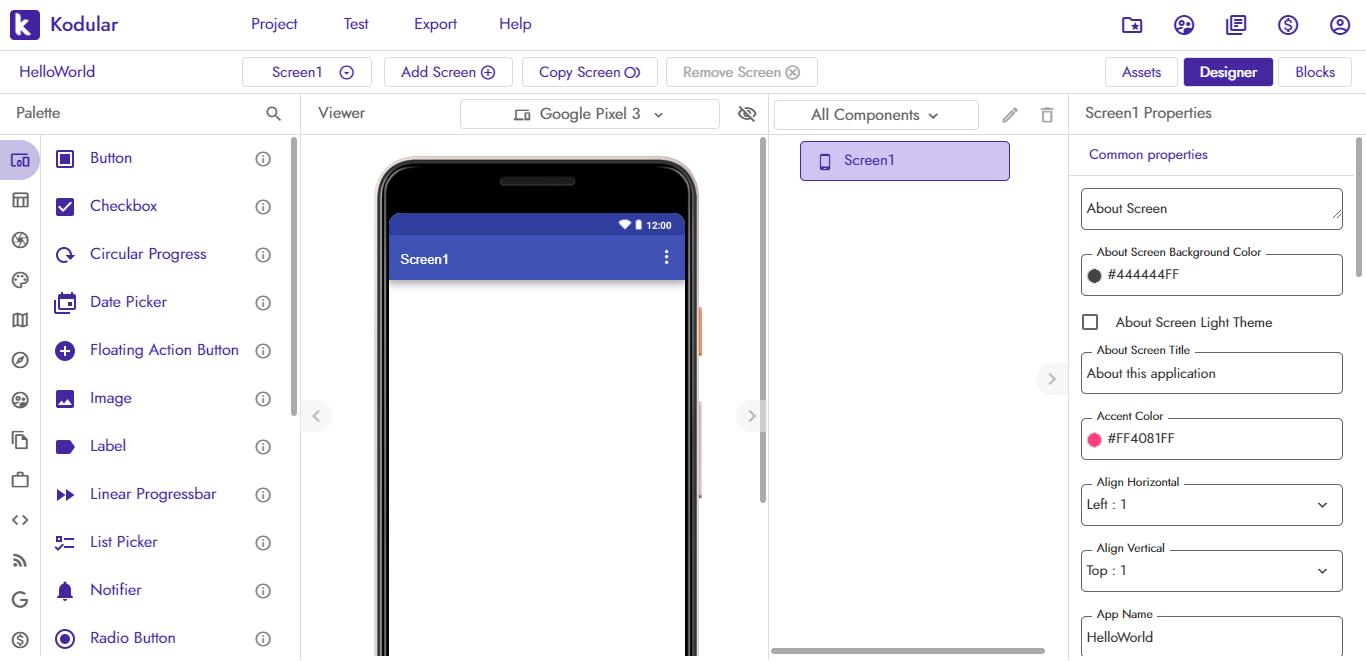 crear apps con kodular