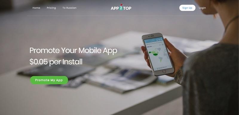 registro en app2top