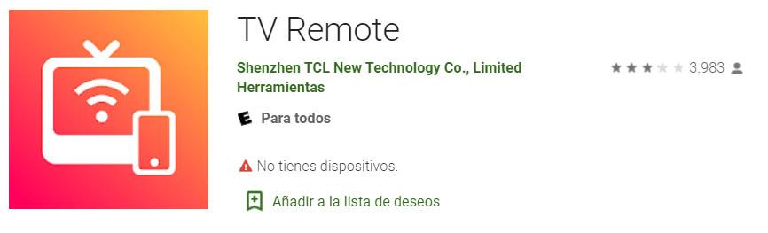 Aplicacion de Control Remoto para Android