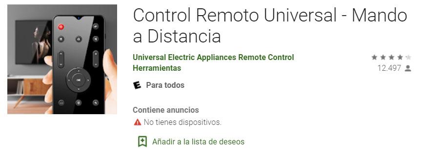 Control Remoto Universal para Android Gratis