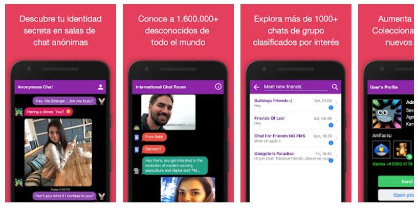 Descargar Chat Anónimo Gratis en Español para Android