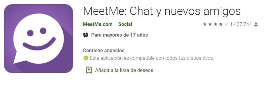 MeetMe App para hacer nuevos amigos