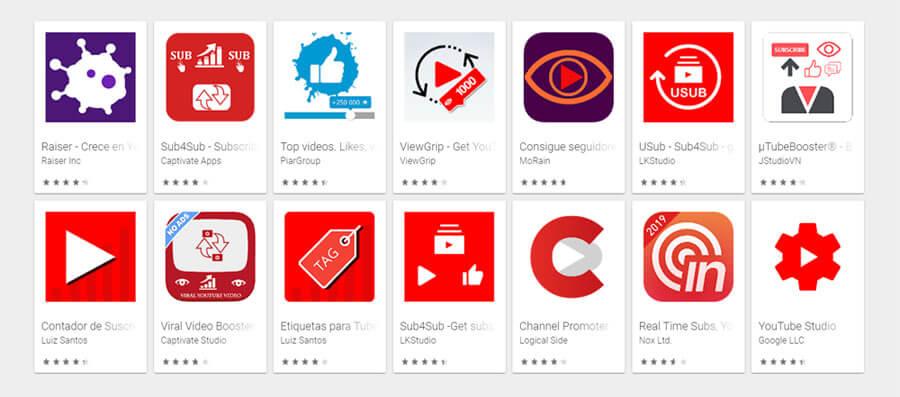 mejores aplicaciones android para tener mas suscriptores en Youtube