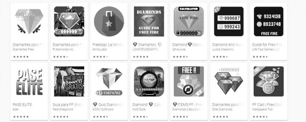 Aplicaciones Tener Diamantes Infinitos en Free Fire