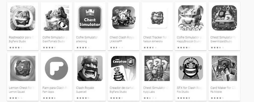 Aplicaciones ver cofres gratis en Clash Royale