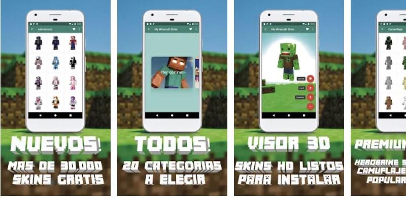 App Robar Skins Minecraft de Youtubers