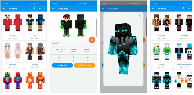 SkinLand - Skins para Minecraft