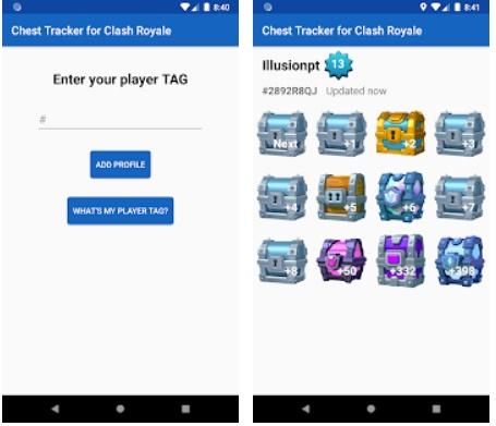 Tracker de Cofres para Clash Royale