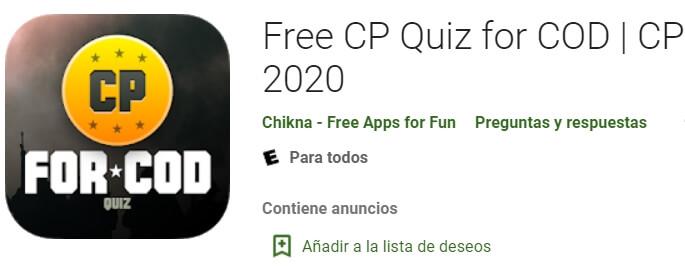 App CP gratis para Call of Duty Mobile 2020