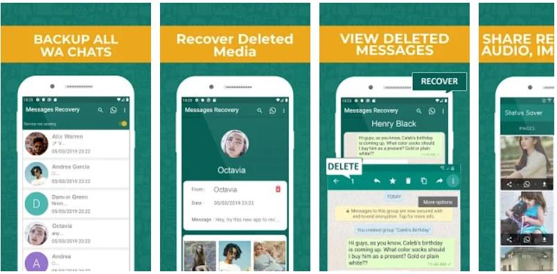 app para compartir archivos borrados de whatsapp