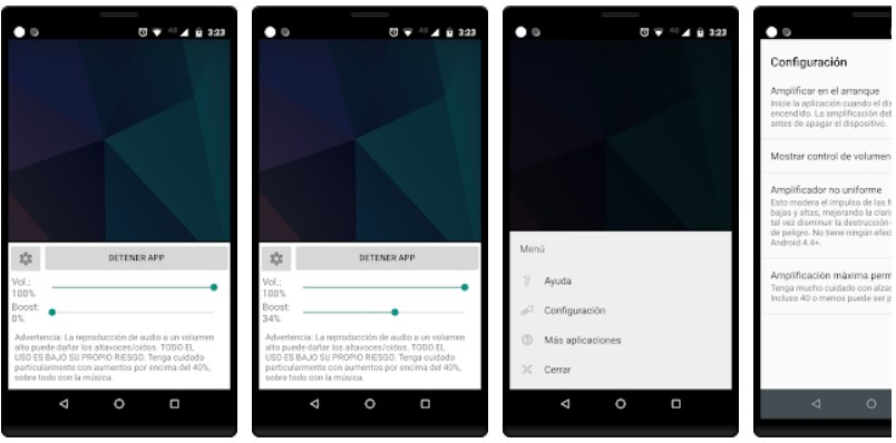 Amplificador de volumen android