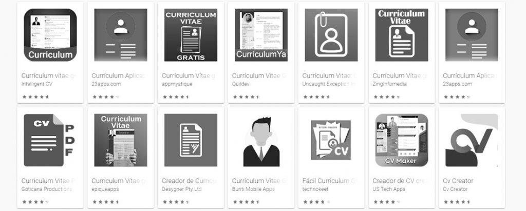 mejores aplicaciones para crear un curriculum vitae gratis
