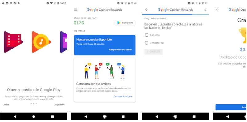 Ganar monedas Myclub con Google Opinion Rewards