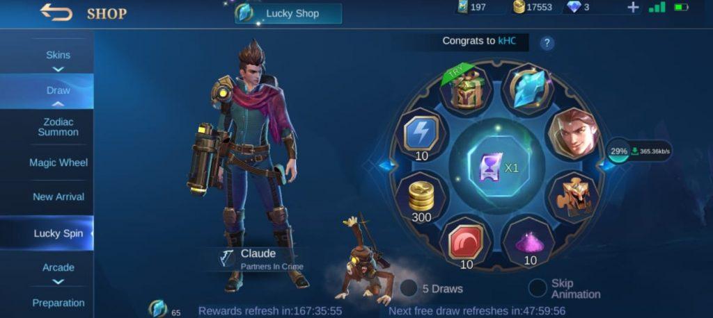 Ganar Heroes en Lucky Spin