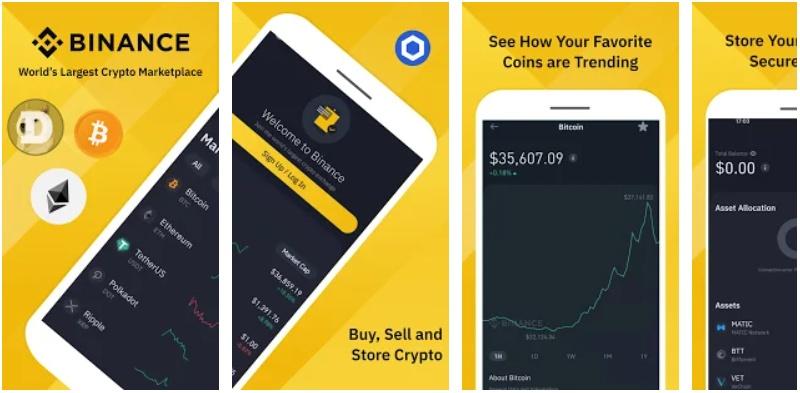 binance exchange app de trading de criptomonedas